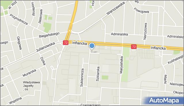 Łódź, Rysownicza, mapa Łodzi