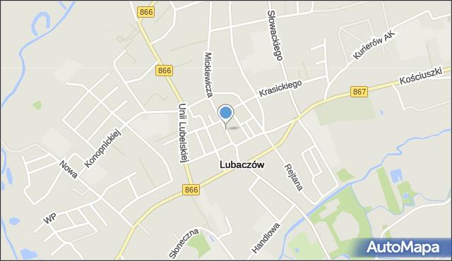Lubaczów, Rynek, mapa Lubaczów