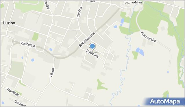 Luzino, Rybacka, mapa Luzino