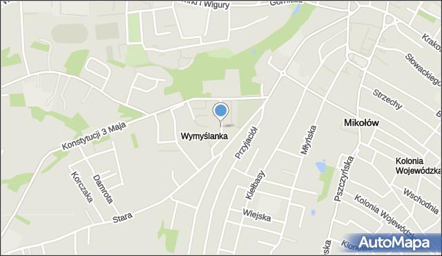Mikołów, Rybickiego Wojciecha, mapa Mikołów