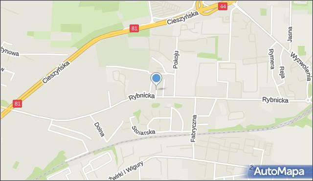 Mikołów, Rymarska, mapa Mikołów