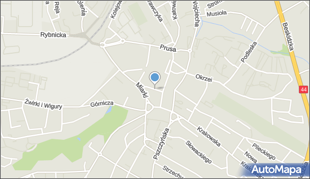 Mikołów, Rynek, mapa Mikołów
