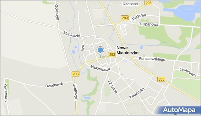 Nowe Miasteczko, Rynek, mapa Nowe Miasteczko