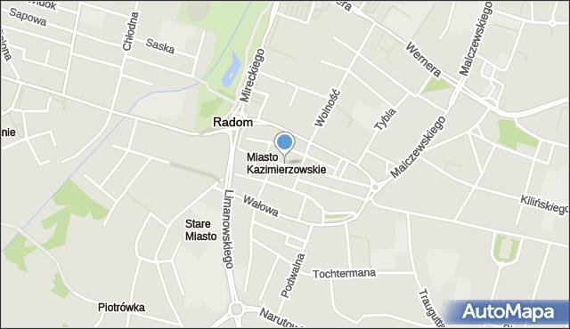 Radom, Rynek, mapa Radomia