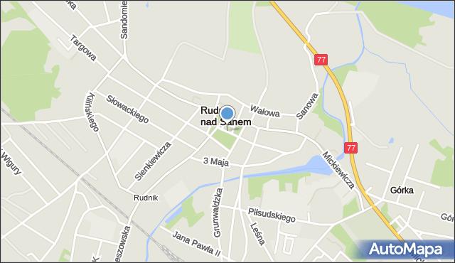Rudnik nad Sanem, Rynek, mapa Rudnik nad Sanem