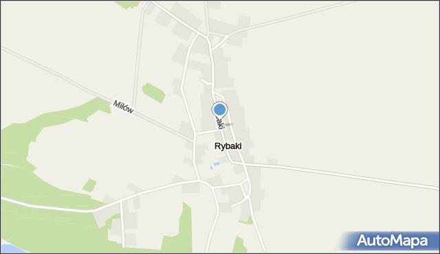 Rybaki gmina Maszewo, Rybaki, mapa Rybaki gmina Maszewo