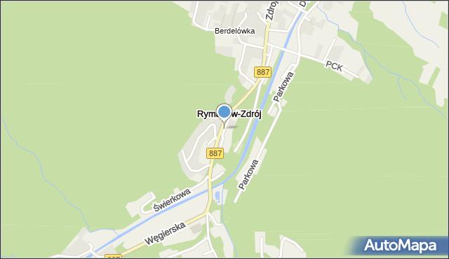Rymanów-Zdrój, Rymanów-Zdrój, mapa Rymanów-Zdrój