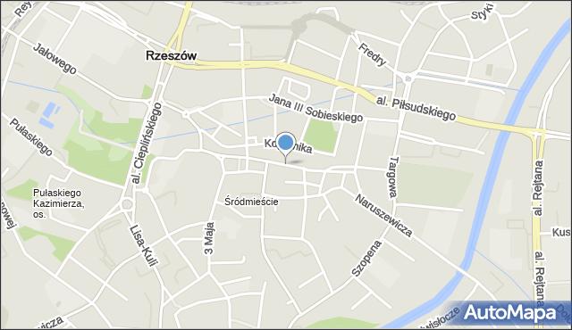 Rzeszów, Rynek, mapa Rzeszów