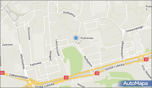 Toruń, Rydygiera Ludwika, mapa Torunia