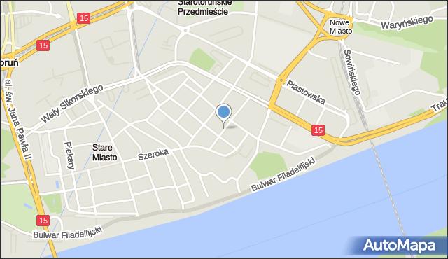 Toruń, Rynek Nowomiejski, mapa Torunia