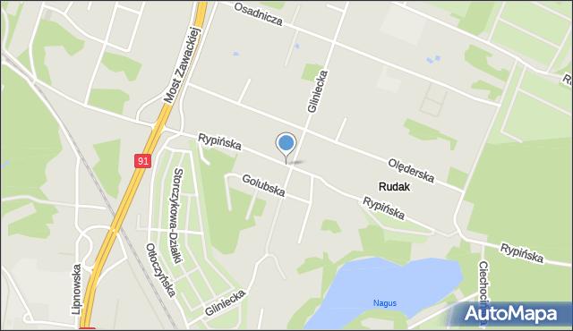 Toruń, Rypińska, mapa Torunia