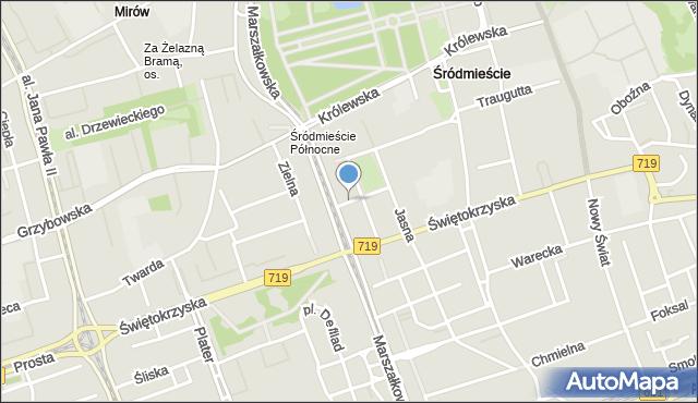 Warszawa, Rysia, mapa Warszawy