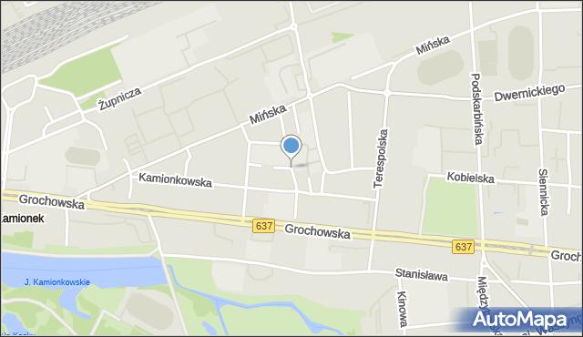 Warszawa, Rybna, mapa Warszawy