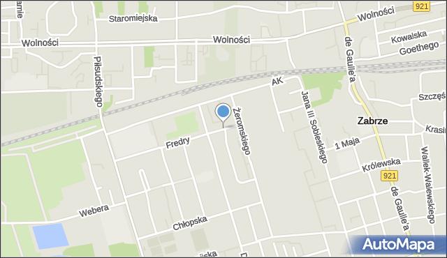 Zabrze, Rymarkiewicza Jana, mapa Zabrza