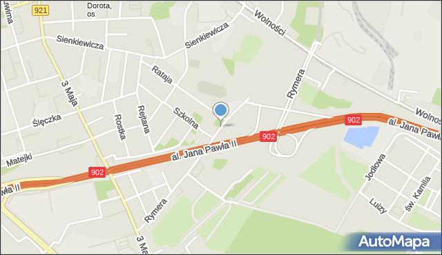 Zabrze, Rymera Józefa, mapa Zabrza