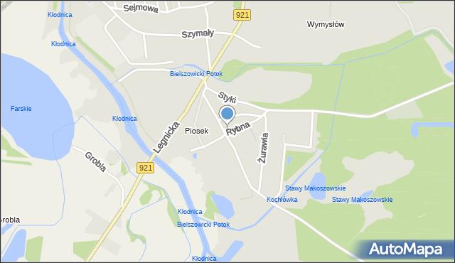 Zabrze, Rybna, mapa Zabrza