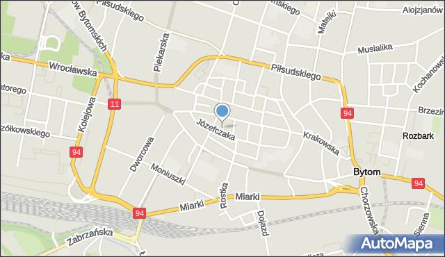 Bytom, Rzeźnicza, mapa Bytomia