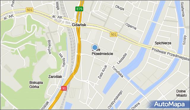 Gdańsk, Rzeźnicka, mapa Gdańska