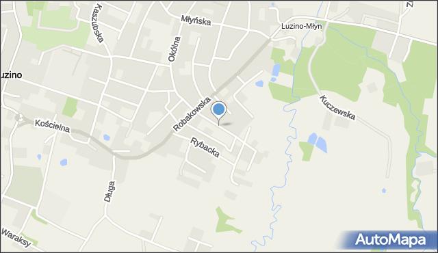 Luzino, Rzeczna, mapa Luzino