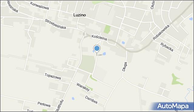 Luzino, Rzepczyńskiego, ks., mapa Luzino