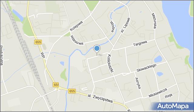 Olecko, Rzeźnicka, mapa Olecko