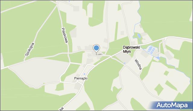Robakowo gmina Luzino, Rzeczna, mapa Robakowo gmina Luzino