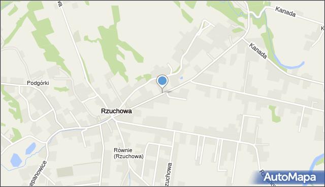 Rzuchowa, Rzuchowa, mapa Rzuchowa