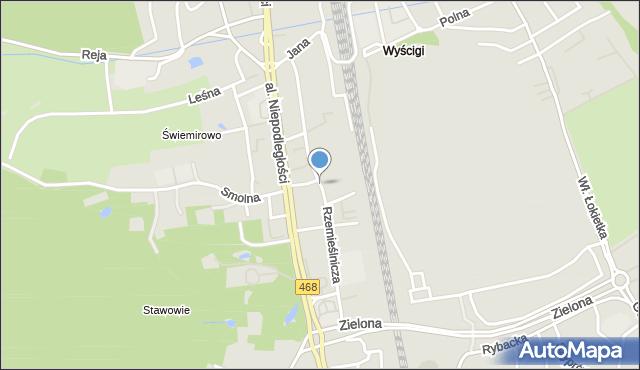 Sopot, Rzemieślnicza, mapa Sopotu