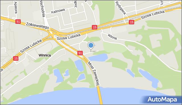 Toruń, Rzeczna, mapa Torunia