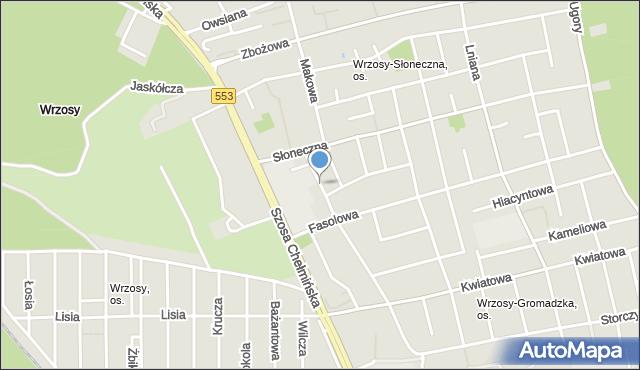 Toruń, Rzepakowa, mapa Torunia