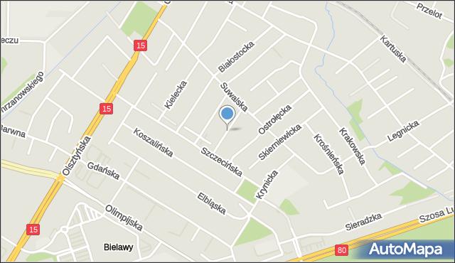 Toruń, Rzeszowska, mapa Torunia
