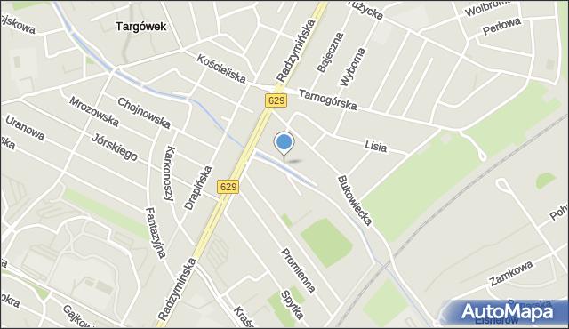 Warszawa, Rzewińska, mapa Warszawy