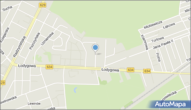 Warszawa, Rzemieślników, mapa Warszawy