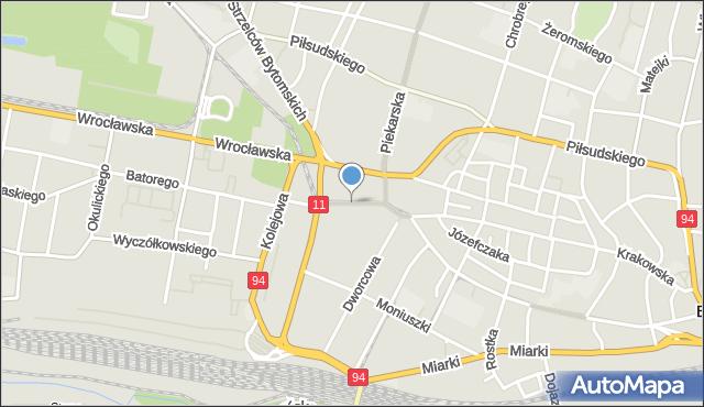 Bytom, Sądowa, mapa Bytomia