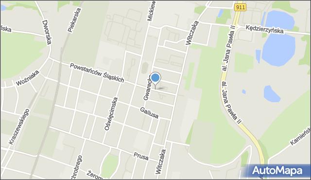 Bytom, Sandomierska, mapa Bytomia