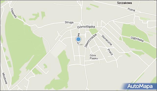 Jaworzno, Sądowa, mapa Jaworzno
