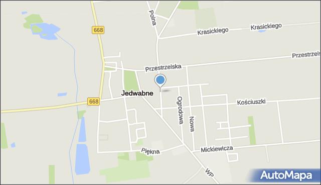 Jedwabne, Sadowa, mapa Jedwabne