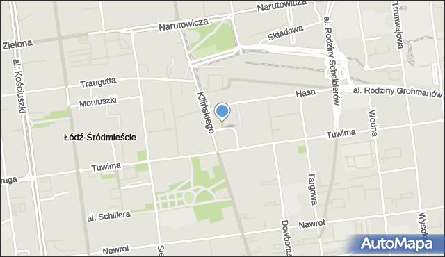 Łódź, Sass-Zdort Barbary, mapa Łodzi