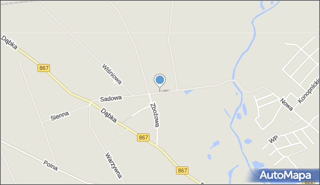 Lubaczów, Sadowa, mapa Lubaczów