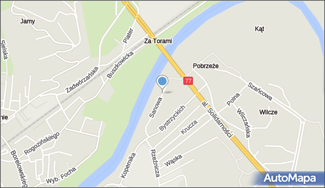 Przemyśl, Sanowa, mapa Przemyśla