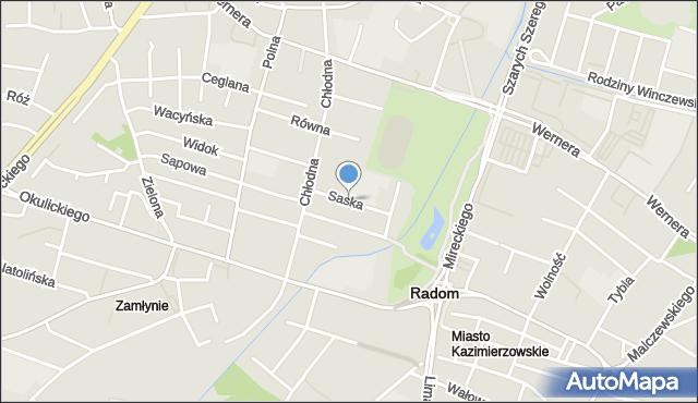 Radom, Saska, mapa Radomia
