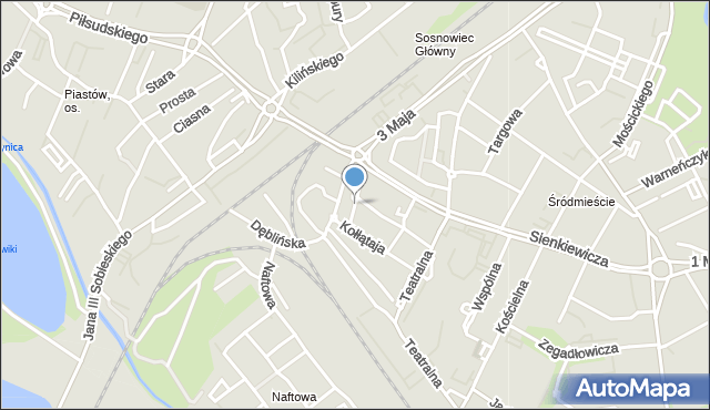 Sosnowiec, Sadowa, mapa Sosnowca