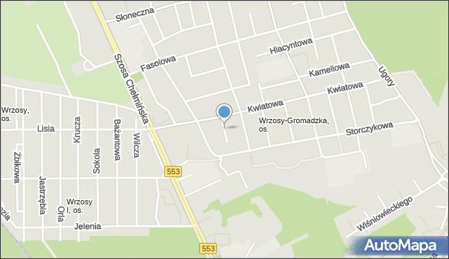 Toruń, Sasankowa, mapa Torunia