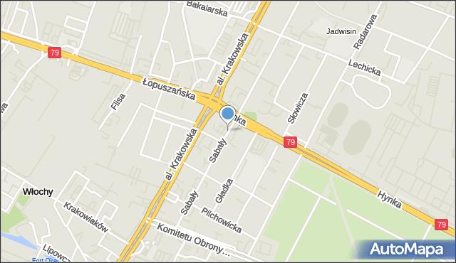 Warszawa, Sabały, mapa Warszawy