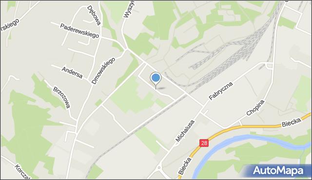 Gorlice, Ściegiennego Piotra, ks., mapa Gorlic