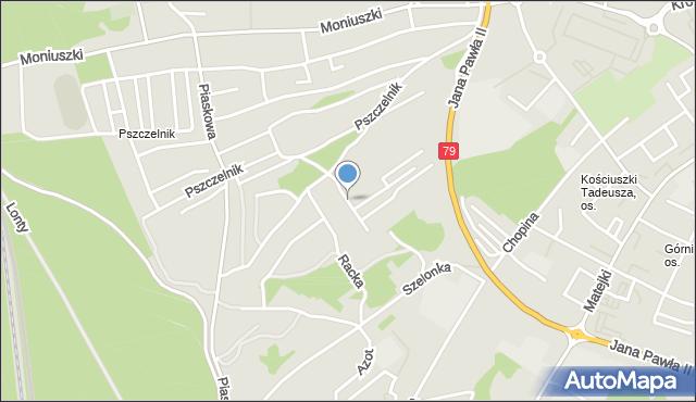 Jaworzno, Schattanka Franciszka, mapa Jaworzno