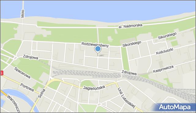 Kołobrzeg, Ściegiennego Piotra, ks., mapa Kołobrzegu