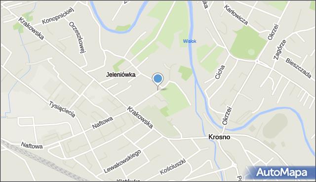 Krosno, Ściegiennego Piotra, ks., mapa Krosna