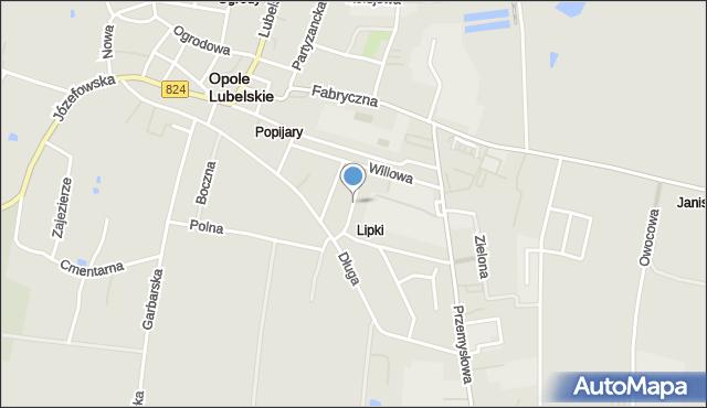 Opole Lubelskie, Ściegiennego Piotra, ks., mapa Opole Lubelskie
