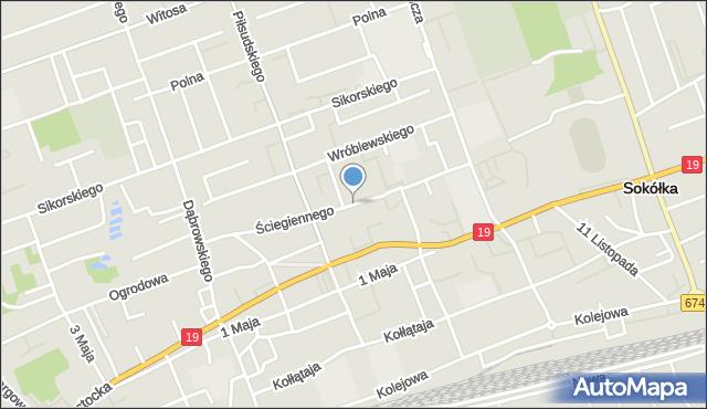 Sokółka, Ściegiennego Piotra, ks., mapa Sokółka